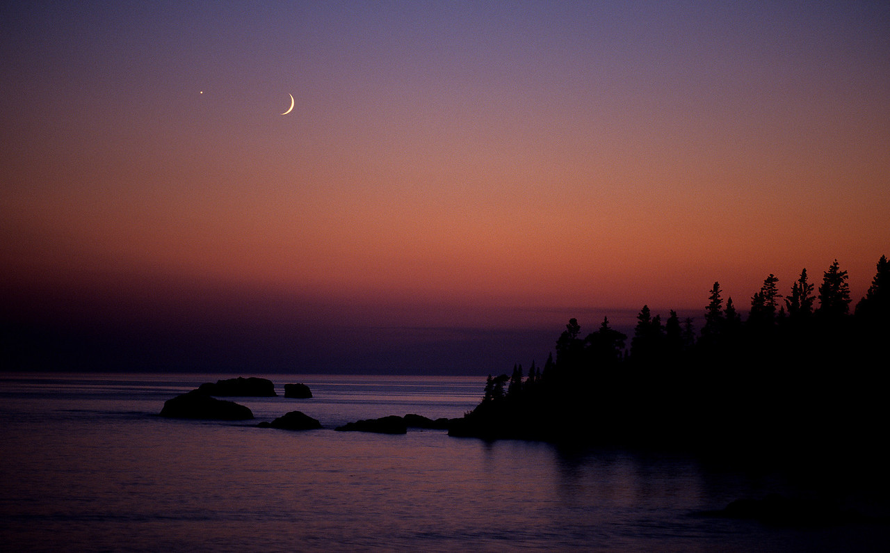 Cresent Moon Sunset