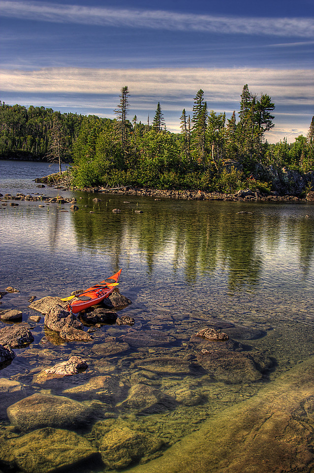Kayak at Hawk Island, Isle Royale