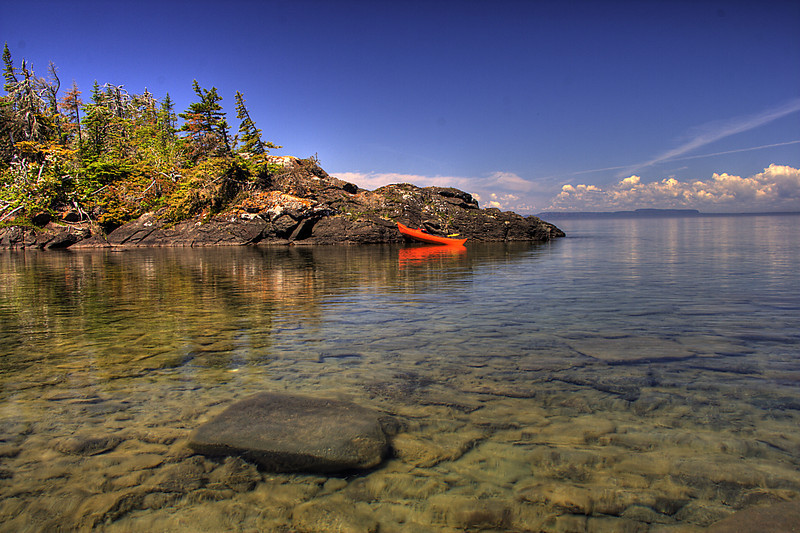 A calm day on Lake Superior, Isle Royale National Park