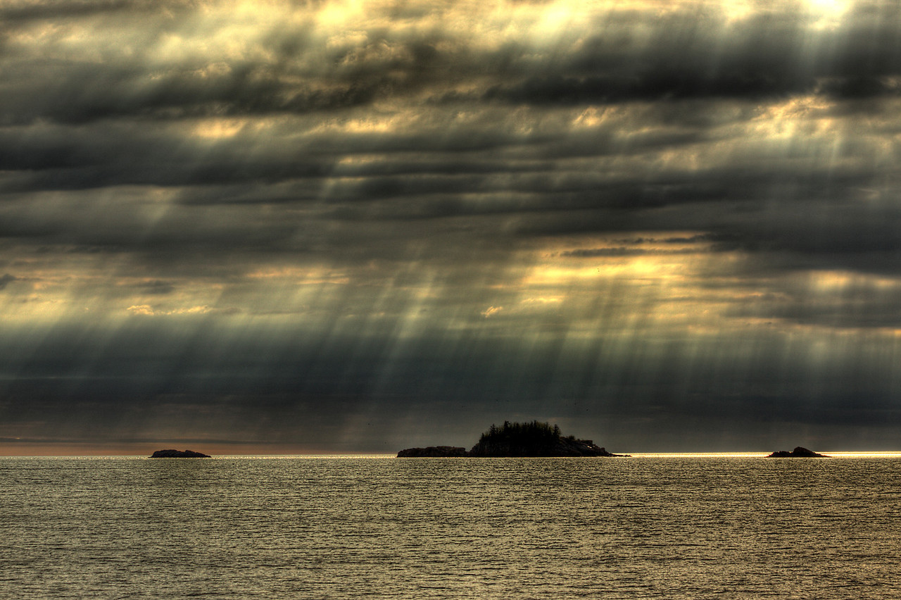 Sun and Clouds over Bat Island