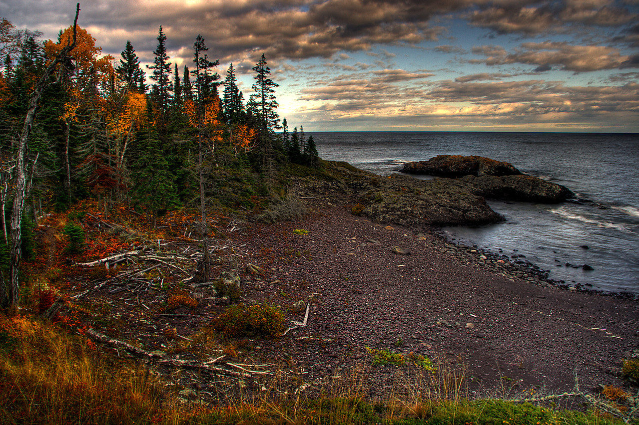 Fall on a Cobble Stone Beach, Isle Royale