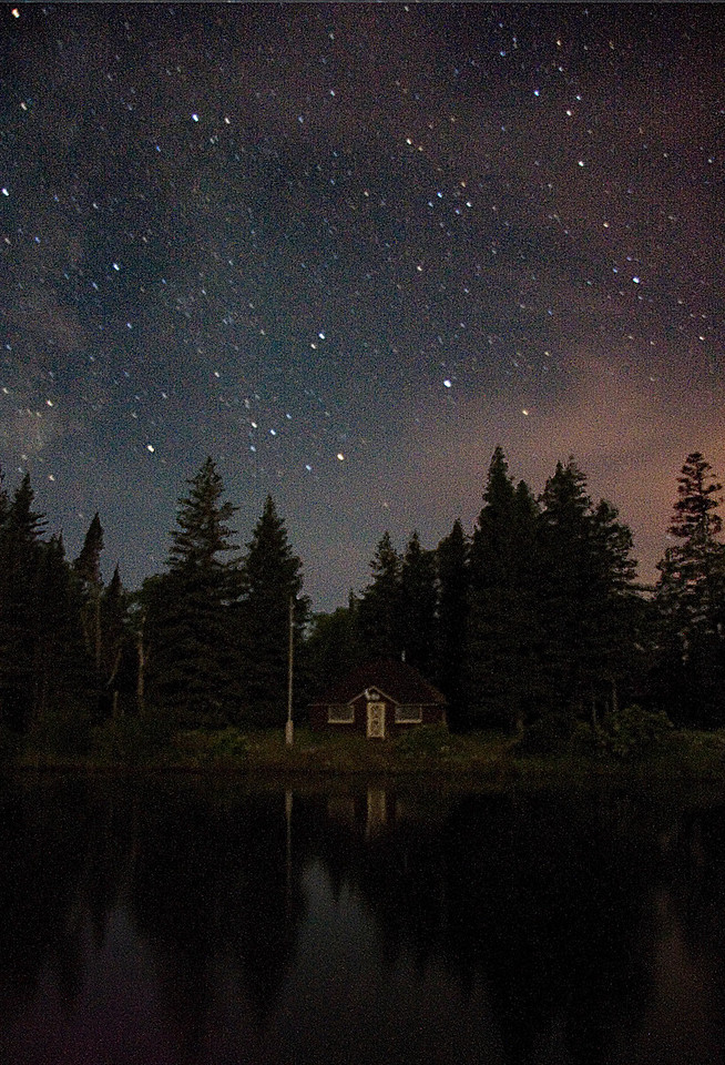 Stary night over Amygdaloid Island Ranger Station