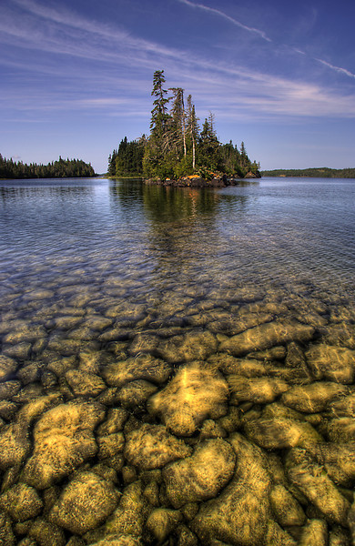 Johnson Island Reef in Robinson Bay, Isle Royale