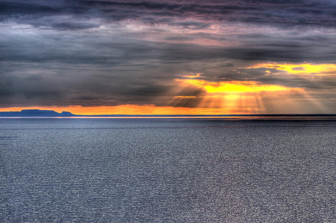 Sun Burst over Lake Superior