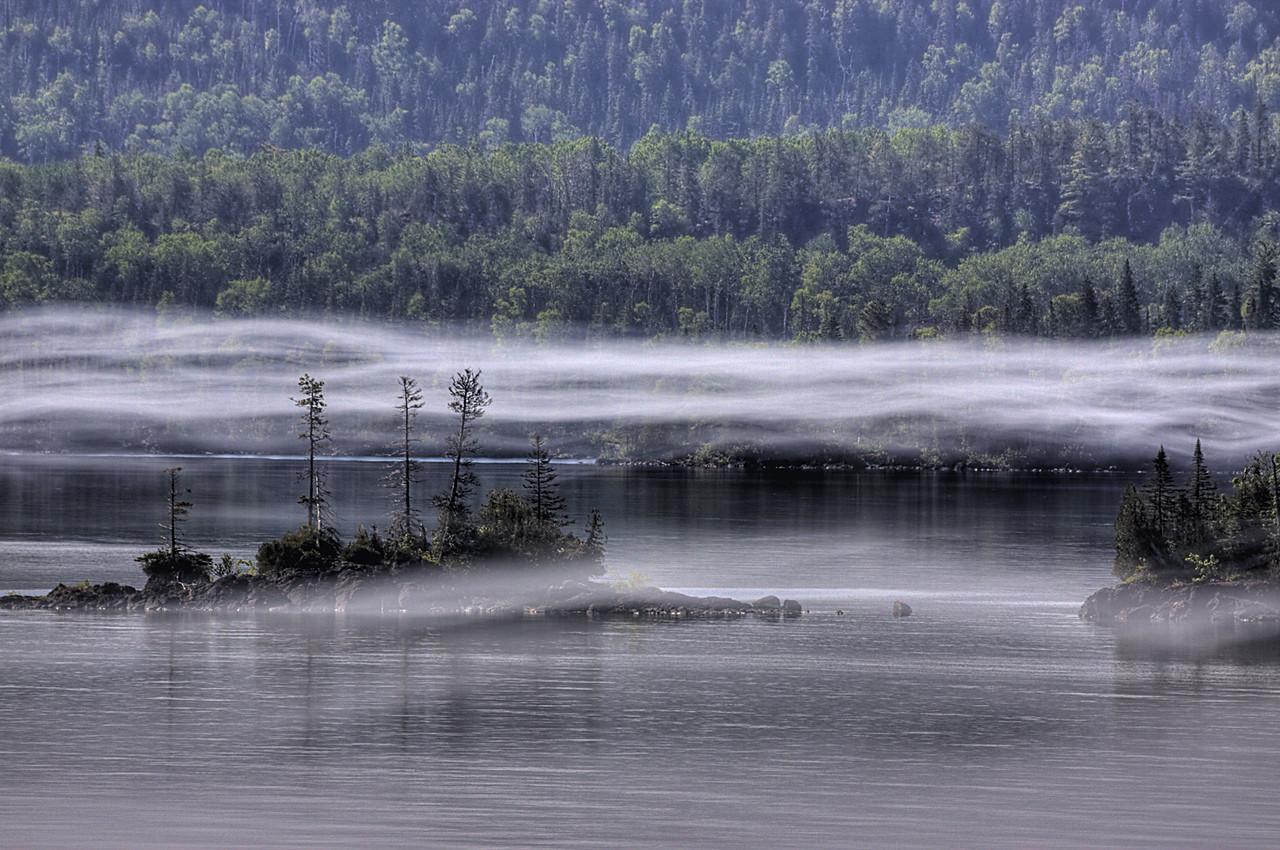 Three Pine Island Fog
