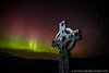 Aurora over Kildalton Cross, Kildalton, Isle of Islay, Scotland