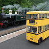 Douglas ,  when was the last time a trolley bus and a steam loco were together?