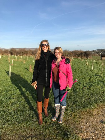 A wonderful winter walk with Claire and Dotty