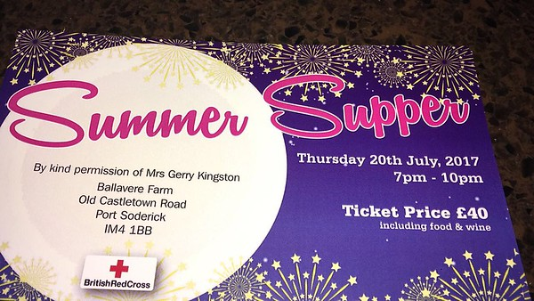 British Red Cross Summer Supper July 2017