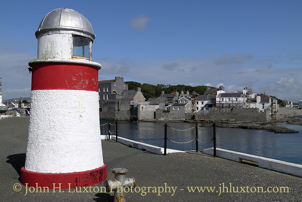 North Pier Lighthouse, Castletown Harbour -  Isle of Man. August 19, 2013