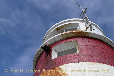 South Pier Lighthouse, Castletown Harbour, Isle of Man. August 19, 2013