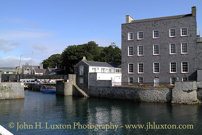 Swing Bridge and Bridge House, Castlletown, Isle of Man - August 19, 2013