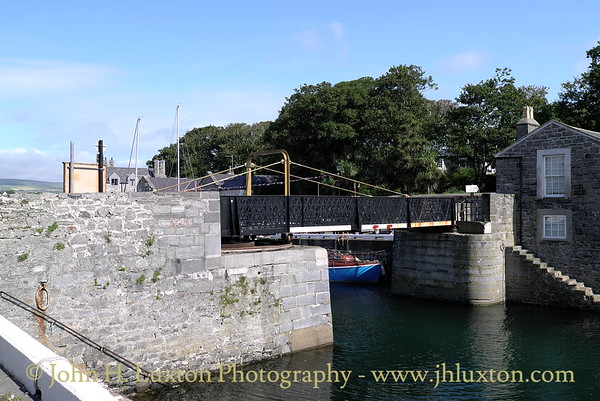 The Swing Bridge, Castletown Harbour, Castletown Isle of Man - August 19, 2013