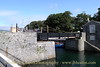 The Swing Bridge, entrance to the middle harbour, Castletown Harbour, Isle of Man. August 19, 2013