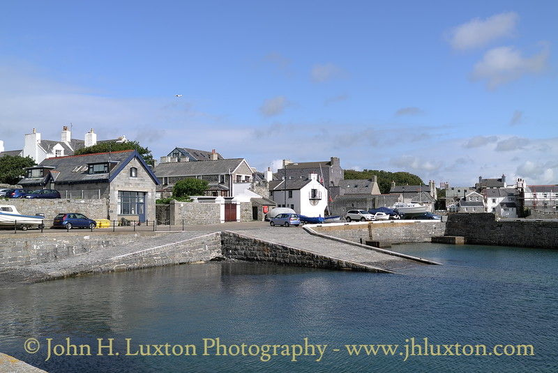 Castletown Harbour, old lifeboat station and slipway. August 19, 2013