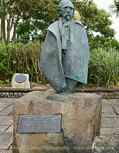 Sir Hall Caine Statue, Summerhill Gardens, Douglas, Isle of Man - June 16, 2018