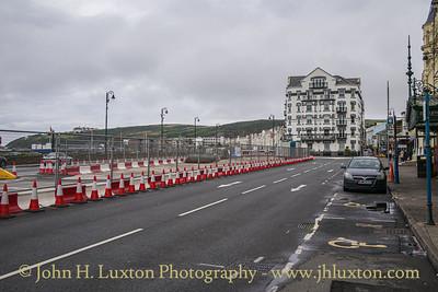 Promenade refurbishent works in progress outside the Gaiety Theatre.