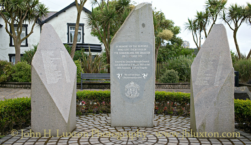 Summerland Disaster Memorial, Summerhill Gardens, Douglas, Isle of Man - June 16, 2018