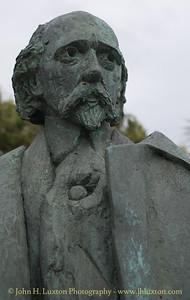 Sir Hall Caine Statue, Summerhill Gardens, Douglas, Isle of Man - June 16, 2018