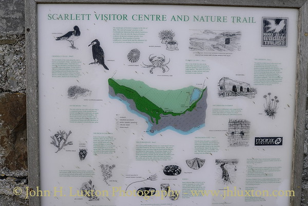 Interpretation board, Scarlett Point, Limestone Quarry, Scarlett Point, Castletown, Isle of Man. Photographed: February 18, 2013