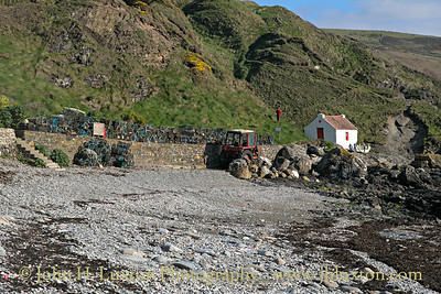 Beach and Fishermen's Equipment, Niarbyl, Isle of Man - April 07, 2017
