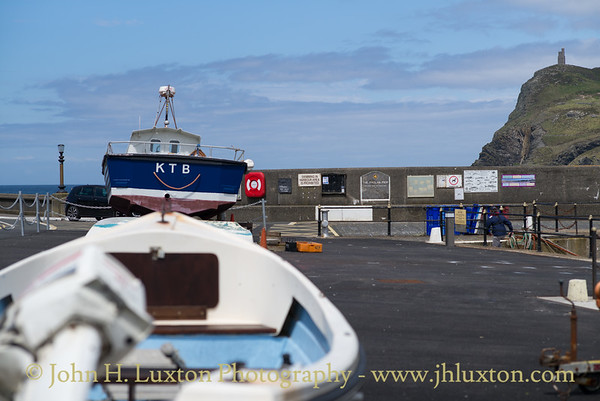 Boat Park, Rgalan Pier, Port Erin. Isle of Man - July 02, 2017