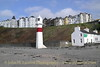 Port Erin Lighthouse and the closed Port Erin Royal Hotel, February 18, 2013