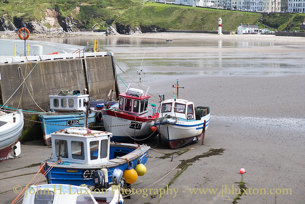 Fishing boats at Port Erin Harbour.