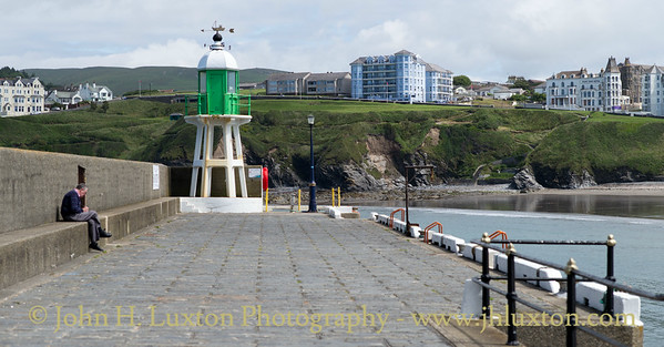 Raglan Pier and Lighthouse, Port Erin, Isle of Man - July 02, 2017