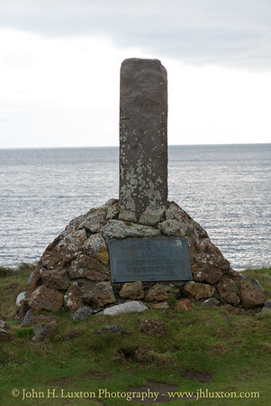 Cowley Memorial, Calf Sound, Isle of Man, November 03, 2017
