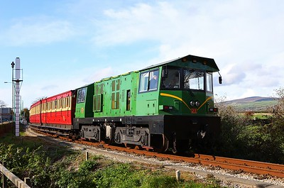 Diesel 21 arrives at Castletown