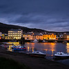 Ramsey Harbor at Night on the Isle of Man