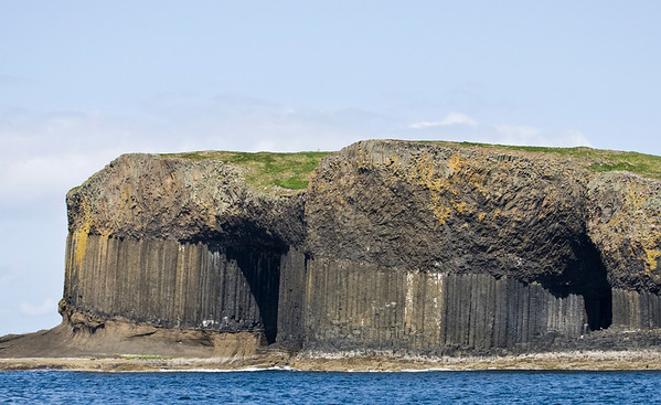 fingals cave (on the right), staffa