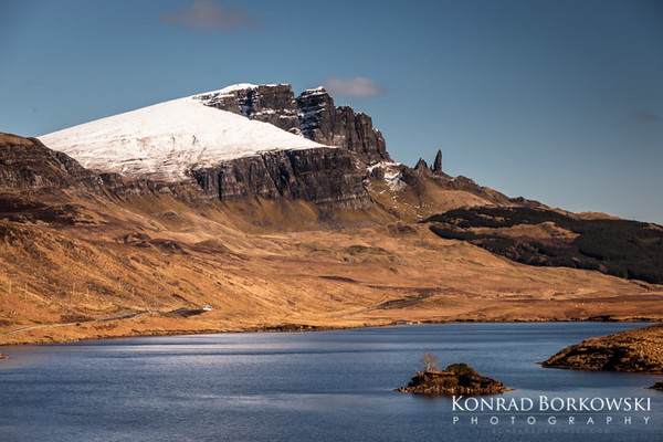 Loch Leathan and the Old Man of Storr, Isle of Skye.