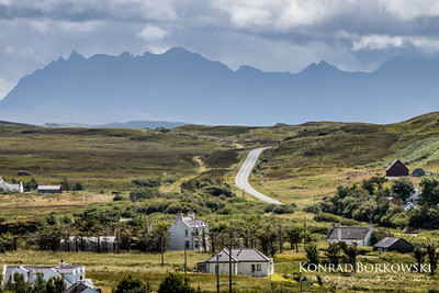 Skye road and Black Culins.