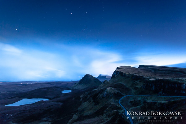 Quirrang at night, Isle of Skye.