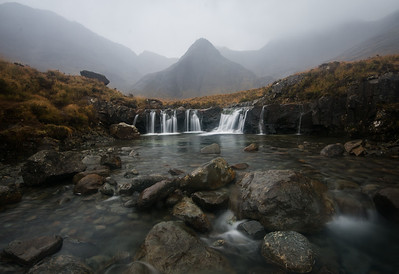 Fairy pools on a grey day
