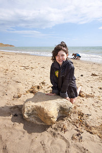 Daisy Morris, Isle of Wight ambassador and fossil hunter. Portrait for Autumn Walking Weekend 2013