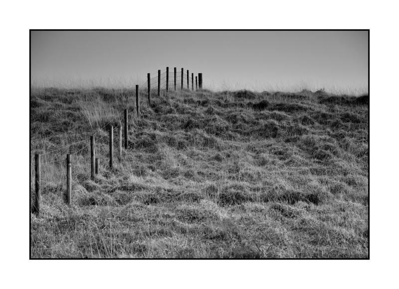 Fence line over Machrie moor.