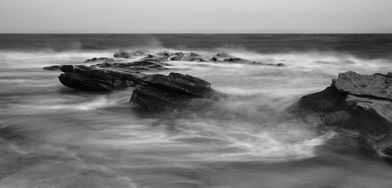 Stormy shore. Merkland shore.