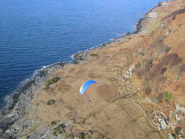 Landing at Newton Point.