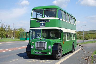 Derek Priddle's FS6G 570 (YDL315) up at the Racecourse for a photograph