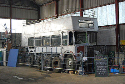 Progress on Bristol K5G 908 (FLJ538), which had stood outside in Holland for over 35 years