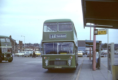 Now preserved VR 637 (NDL637M) in Newport Bus Station (late Peter Snell)
