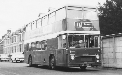 Southern Vectis' first VR (622) in West Hill Road, Cowes at 10.45 on 13th April 1970 (John R Stewart)