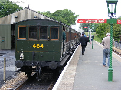 The vintage four wheeled carriages at Havenstreet