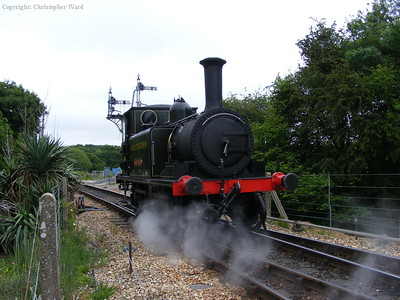 Freshwater runs off a train to reach Havenstreet yard