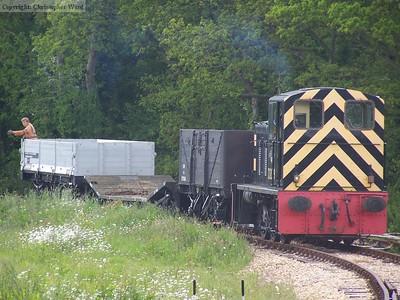 A class 03 shunts wagons
