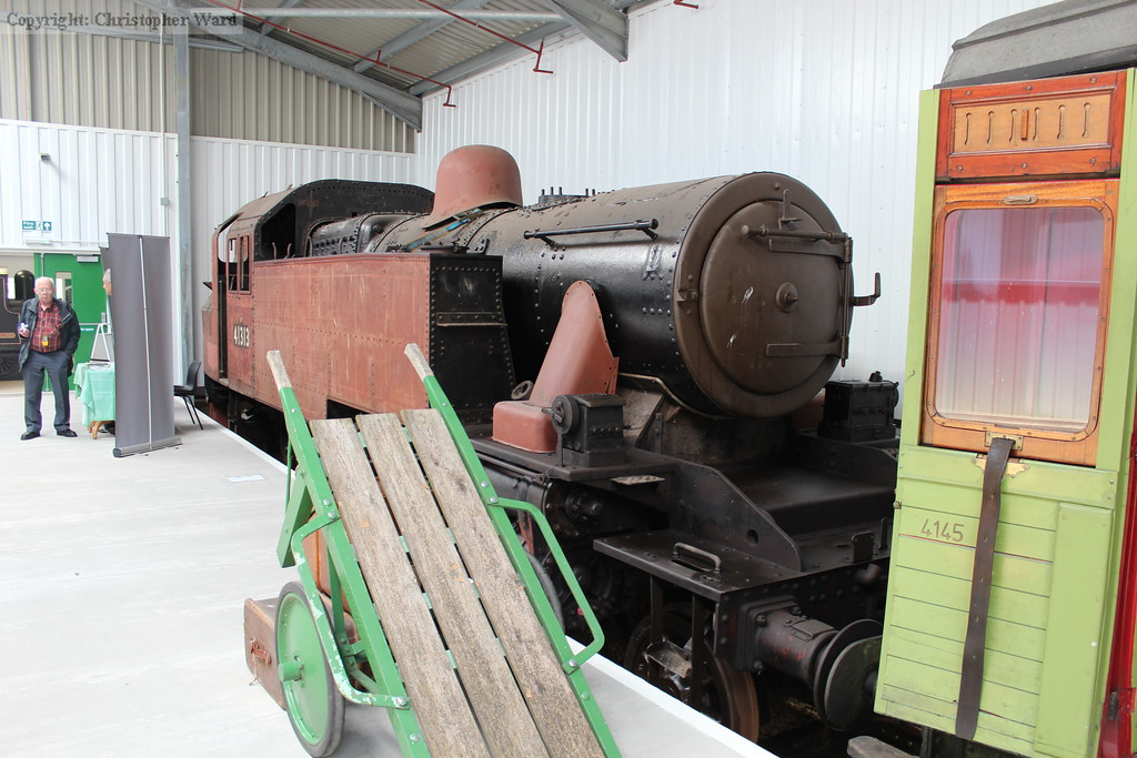 The longer term Ivatt tank in the shed