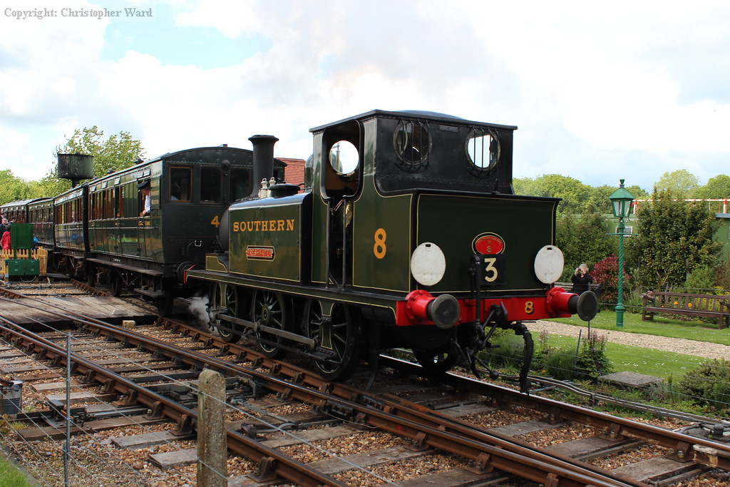 The Smallbrook Junction train behind the Terrier